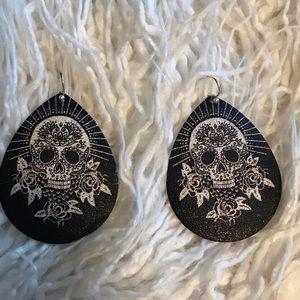 Fun sugar skull earrings